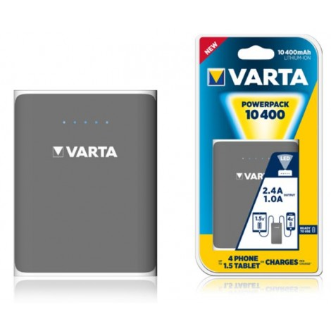 Varta Portable Oplaadbare Powerbank Powerpack 10.400Mah Family 80x105x23Mm