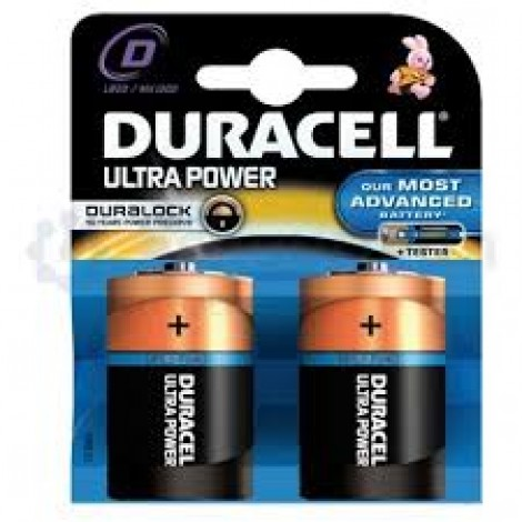 Duracell Batterij Alkaline Ultra Power Duralock MX1300/LR20/D Monocel Bls2