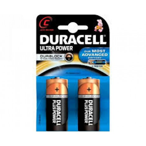 Duracell Batterij Alkaline Ultra Power Duralock MX1400/LR14/C Engelse Staaf Bls2
