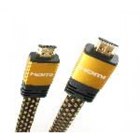 Hdmi Kabel 2.0Mtr 1.4 High-Speed Omvlochten Goud Ethernet 5822