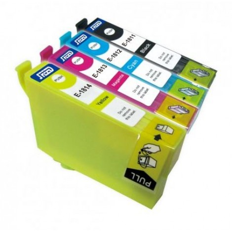 Secondlife Cartridge Multipack Epson SLE-5 Epson T 1811 1812 1813 1814 Zwart Cyaan Magenta Geel 11411059