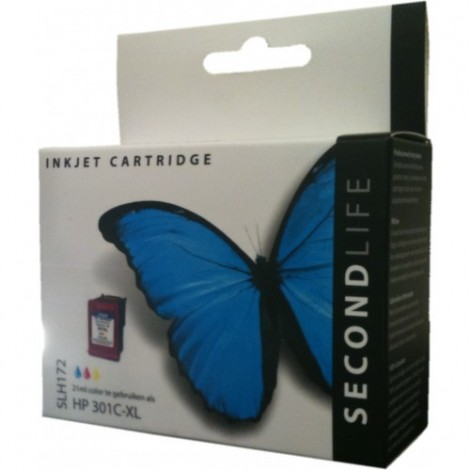 Secondlife Cartridge HP SLH172 HP 301 XL Color cyaan magenta geel 21ml CH564E 11111088
