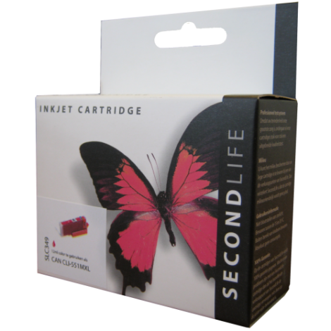 Secondlife Cartridge Canon SLC349 Canon CLI 551 Magenta XL 12ml CLI551XLM 11011123
