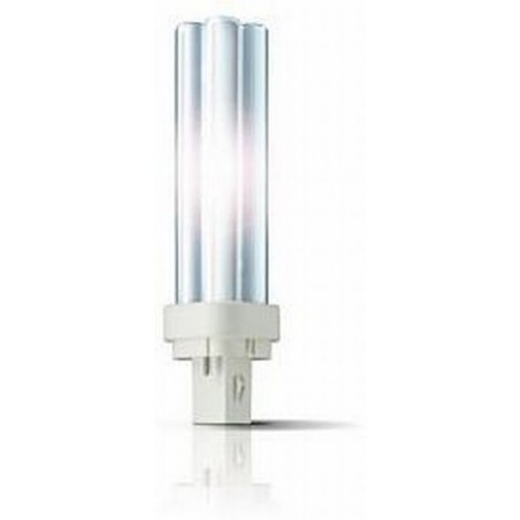 Philips Compact Fluor Plc 18W 827 2700K 2-Pins G24D-2 Extra Warmwit