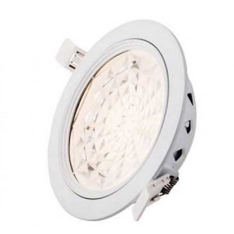 Interlight Led Downlight Top 8W=2x9W 100graden IP44 3000K 640lumen gatmaat 155mm afm. 170x50mm incl driver niet dimbaar IL-DT8100K3