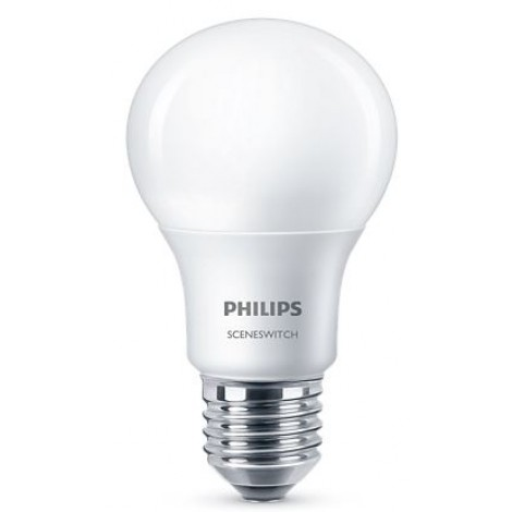 Philips LED Standaardlamp Sceneswitch E27 8W-5W-2W 827 MAT 58884000