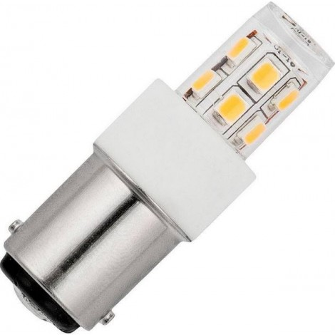 Marine Led Buislamp 2.3W B15 2700K 230V 2835 Smd Led Helder 14x46mm