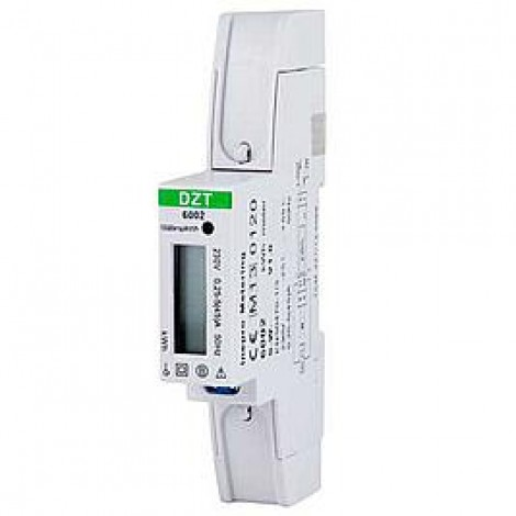Kwh Meter Inb 1-Fase 45A Digitaal Dinrail 17mm Pro-1D V20.112 KWH1071DZT