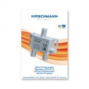 Hirschmann Shop Vfc2104 Verdeler Splitter 2-Voudig 695002993 3,8dB incl push on F-connectoren