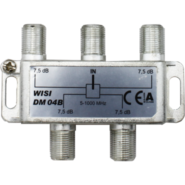 Coax Splitter Verdeler Dm04 4-V Multitap F-Connector 4-862Mhz