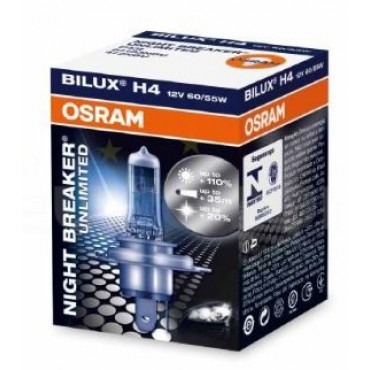 Osram Autolamp 12V 55W H4 64193NBU P43t Night Breaker Unlimited