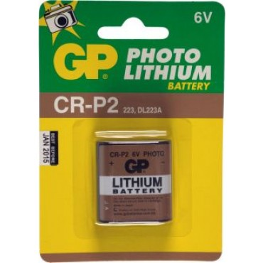 G.P Batterij Photo Lithiumcel Crp2 6Volt
