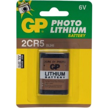 G.P Batterij Photo Lithium 2Cr5 6Volt