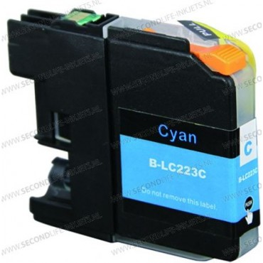 Secondlife Inkt Cartridge Brother LC 223 C 10mL Cyaan LC223C 11511152