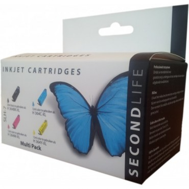 Secondlife Cartridge Multipack HP SLH-7 HP 364 black cyaan magenta geel 8861111740962 11111279