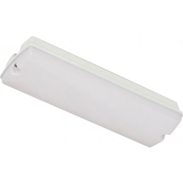 Robus Noodverlichting Led 2.6W 60L Opale Kap Ni-Cd IP65 3uurs maintained R8MLEDTS-01