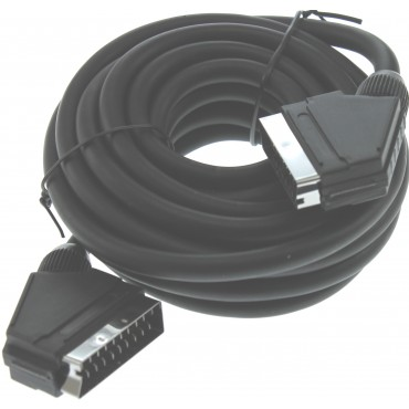 Scart Kabel 5.0Mtr Male > Male 9.4Mm Basicline
