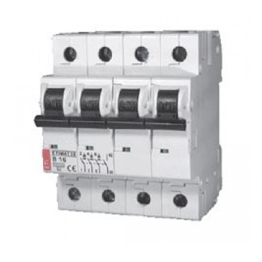 Eti Etimat10 Installatie Automaat 20A B-Kar 3-Fase+N 4-P 230/400V 002126717