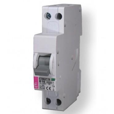 Eti Etimat10 Installatie Automaat 16A B-Kar 1-Fase+N 1-P 002191104 433000204 1 module breed 18mm