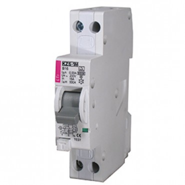 Eti Aardlek Automaat 16A B-Kar 30mA 1P+N 432000204 2175204 18mm breed 1 module