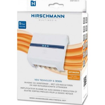 Hirschmann Shop HMV41 Coax Cai versterker met 4 x Retourgeschikt 1218M