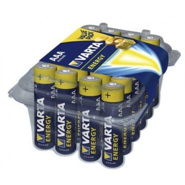 Varta Batterij Alkaline Dunne Penlite Mn2400 Aaa Lr03 in een Transparante Box a 24 Stuks