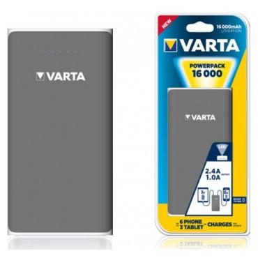 Varta Portable Oplaadbare Powerbank Powerpack 16.000Mah Family 82x160x22Mm