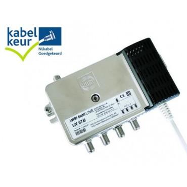 Wisi Vx67B Coax Versterker 4-V Kabelkeur