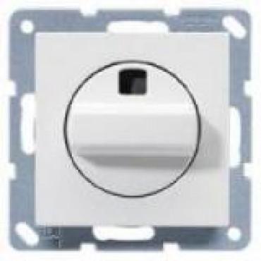 Jung Basiselement Inbouw Ventilator Schakelaar 2-Polig Echt Wit A504.20NWW