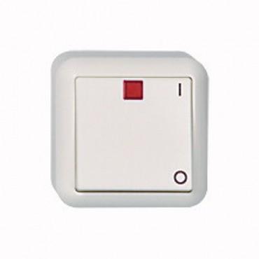Elso Opbouw Contura Schakelaar 2-Polig Met Lamp 381210 Creme
