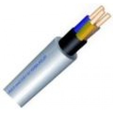 Xmvk Kabel 4x2.5mm2 Grijs rol van 100meter Installatiekabel