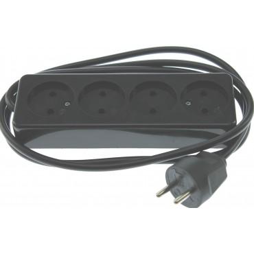 Kaiser Tafelcontactdoos TCD 4-Voudig 1.5meter snoer zwart