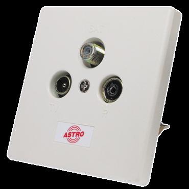 Astro Gut 15D Coax Antennecontactdoos Inbouw Met Afdekplaat 5–1006 Mhz
