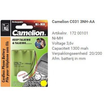 Camelion Telefoon Batterij Nimh C031 3.6V 1300mA 3Xaa Univ.Steker