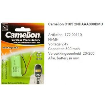 Camelion Telefoon Batterij Nimh C105 2.4V 800mA 2Xaaa Univ.Steker