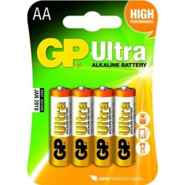 G.P Batterij Alkaline Ultra Lr06 Aa 1.5V Penlite Bls4