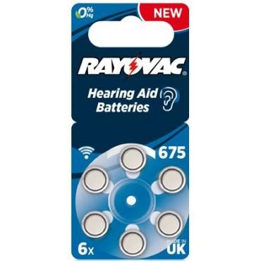 Rayovac Gehoorbatterij Extra Advanced V675 675 Blauw Hearing BLS6