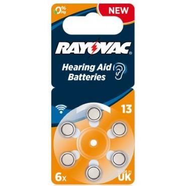 Rayovac Extra Advanced Gehoorbatterij Da13 Oranje Hearing Aid Zinc-Air Bls6