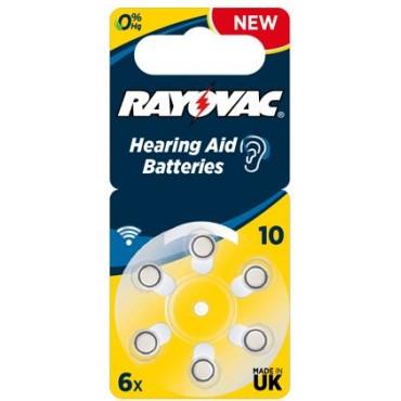 Rayovac Gehoorbatterij Extra Advanced Ac10 V10 230 Geel Hearing BLS6