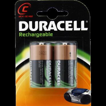 Duracell oplaadbaar NiMH Batterij Engelse Staaf Lr14 C-Cell 2200mAh blister van 2stuks