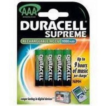 Duracell oplaadbaar NiMH Batterij Potloodcel AAA Lr3 800mAh blister van 4stuks