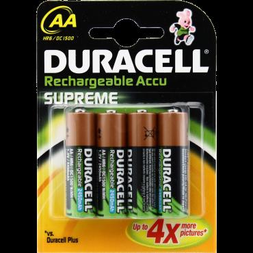Duracell oplaadbaar NiMH Batterij Penlite AA Lr6 2450mAh blister van 4stuks