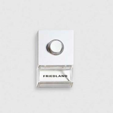 Friedland Beldrukker D723W Pushlite Wit Opbouw