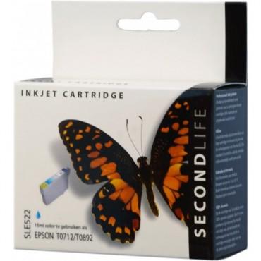 Secondlife Cartridge Epson SLE522 Epson T 712 Cyan 15ml C13T07124010 11411182