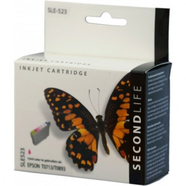 Secondlife Cartridge Epson SLE523 Epson T 713 Magenta 15ml C13T07134010 11411183