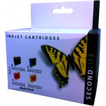 Secondlife Cartridge Multipack Brother SLB-3 Brother 970/1000 BK C M Y black cyaan magenta geel LC-1000 11511119