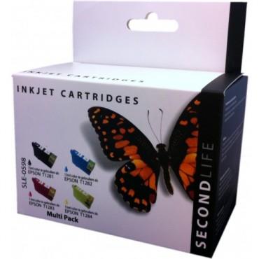Secondlife Cartridge Multipack Epson SLE-0598 Epson 1281 1282 1283 en 1284 zwart cyaan magenta geel C13T12854010 11411029