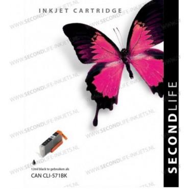 Secondlife Cartridge Canon 571 BK XL Black 12ML 11011231