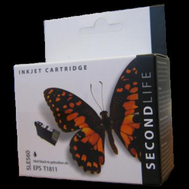 Secondlife Cartridge Epson SLE560 Epson T 1811 Black 18ml C13T18014010 11411051