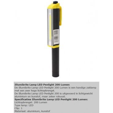 Zaklamp Led Pen Incl Batterij 3xAAA Penmodel Illumibrite zwart